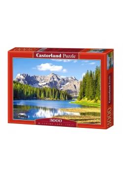 Puzzle 3000 Jezioro Misurina - Włochy CASTOR