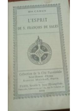 L'Esprit de S. Francois de Sales, 1904 r.