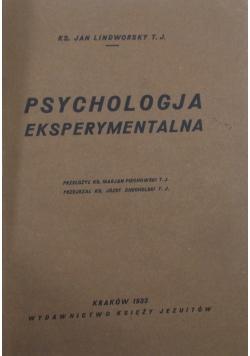 Psychologia eksperymentalna,  1933r.