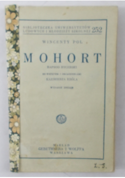 Mohort, 1933 r.
