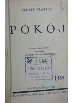 Pokój, 1933 r.