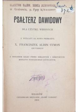 Psałterz Dawidowy, 1917 r.