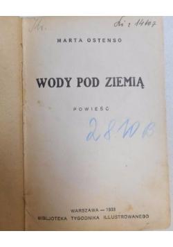 Wody pod ziemią, 1933 r.