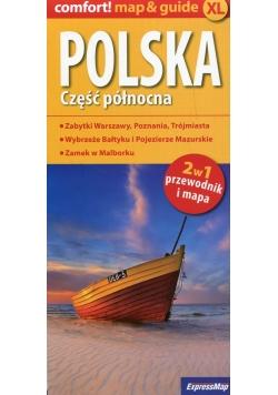 Polska Część połnocna 2w1 przewodnik i mapa