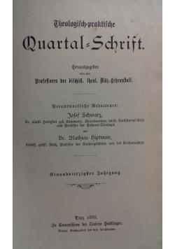 Theologisch = praktilche Quartal =schrift, 1888 r.