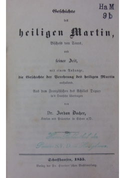 Geschichte des heiligen Martin, 1885r.