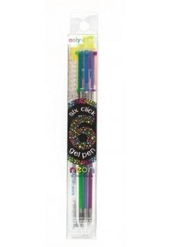 Żelowy długopis mechaniczny 6w1 neonowy