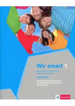 Wir Smart 1 Język niemiecki dla klasy 4 Smartbuch Rozszerzony zeszyt ćwiczeń z interaktywnym kompletem uczniowskim