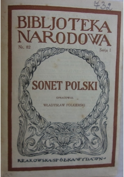 Sonet polski, 1925 r.