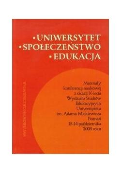 Uniwersytet społeczeństwo edukacja
