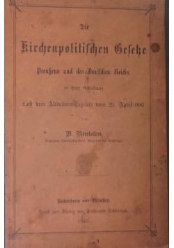 Kirchenpolitischen Beseke, 1887r.