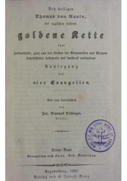 Das heiligen Thomas von Aquin, des englischen Lehrers, goldene Kette. 1847 r.