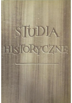 Studia historyczne, Tom II