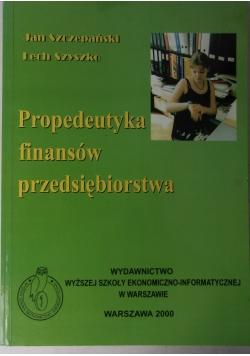 Propedeutyka finansów przedsiębiorstwa