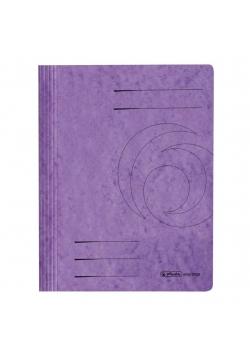 Skoroszyt A4 kartonowy ze sprężynką fioletowy