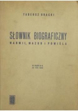 Słownik biograficzny Warmii, Mazur i Powiśla