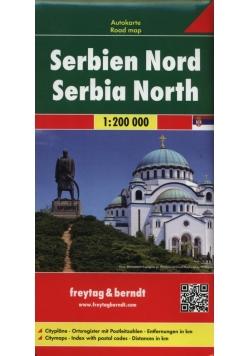 Serbia część północna mapa samochodowa 1:200 000