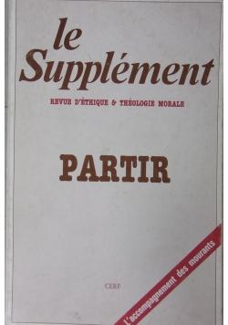 Le Supplement Partir Revue D Ethique & Theologie morale