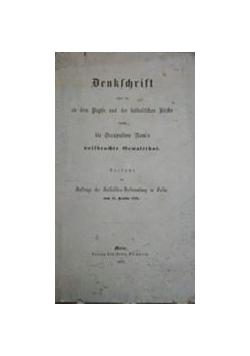 Denkschrif uber dem Papste und der katolischen Kirche, 1871 r.