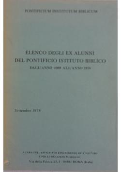 Elenco degli ex alunni del pontificio intituto biblico