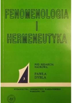 Fenomenologia i hermeneutyka