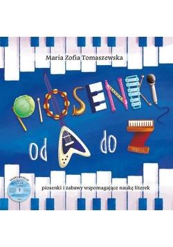 Piosenki od A do Z. Piosenki i zabawy (książka+CD)