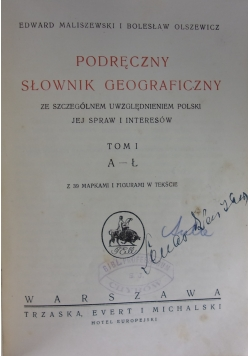 Podręczny Słownik Geograficzny ,1921r.