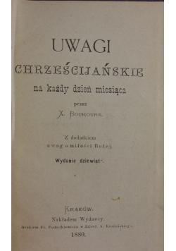 Uwagi chrześcijańskie na każdy dzień miesiąca, 1880r.