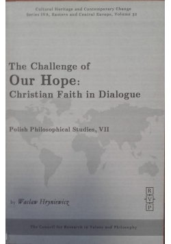 The Challenge of Our Hope: Christian Faith in Dialogue