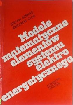 Modele matematyczne elementów systemu elektroenergetycznego