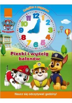 Psi Patrol. Książka z zegarem. Pieski i wyścig...