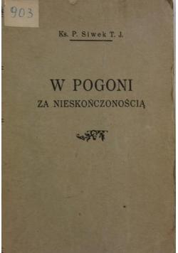 W pogoni za nieskończonością, 1930