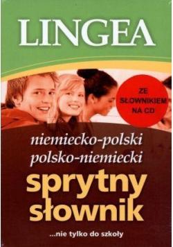 Sprytny słownik niem-pol, pol-niem + CD Lingea