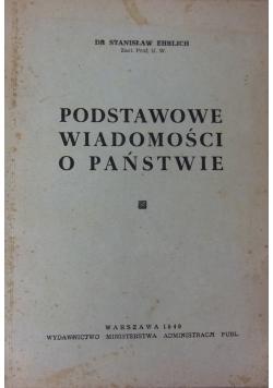 Podstawowe wiadomości o państwie. 1949 r.