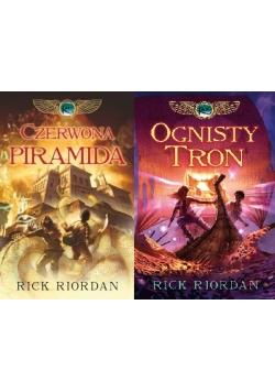 Czerwona piramida/ Ognisty tron, 2 książki