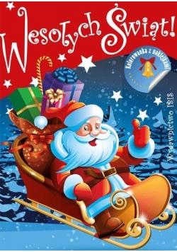 Wesołych świąt! Kolorowanka z naklejkami