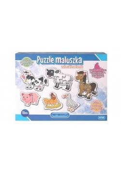 Puzzle maluszka - Zwierzaki na farmie