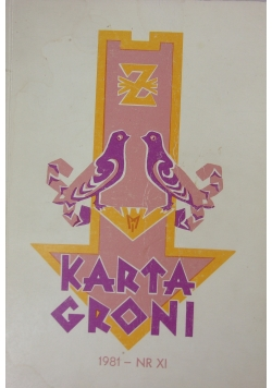 Karta Groni 1981-NR XI