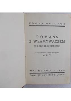 Romans z włamywaczem, 1929 r.