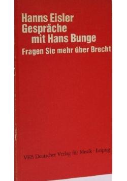 Gespräche mit Hans Bunge