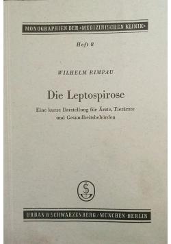 Die Leptospirose, 1950 r.