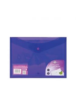 Teczka kopertowa PP A4 fioletowy (5szt) PUKKA