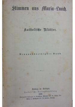 Stimmen aus Maria-Laach 39 band, 1890r.