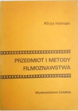 Przedmiot i Metody Filmoznawstwa