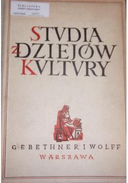 Studia z dziejów Kvltvry, 1949 r.