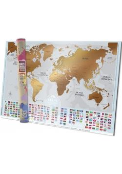 Mapa zdrapka Gold