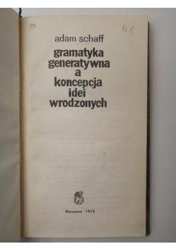 Gramatyka generatywna a koncepcja idei wrodzonych