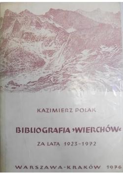 Bibliografia Wierchów za lata 1923 - 1972
