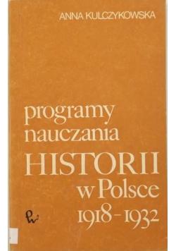 Programy nauczania historii w Polsce 1918-1932