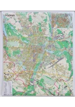 Poznań. Mapa ścienna 1:20 000